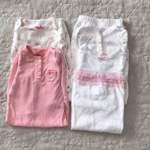 Baby girl night gowns 0-3 & newborn